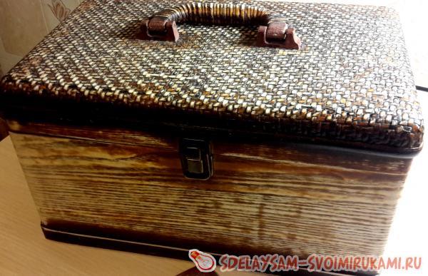 Реставрируем старую шкатулку – Ярмарка Мастеров