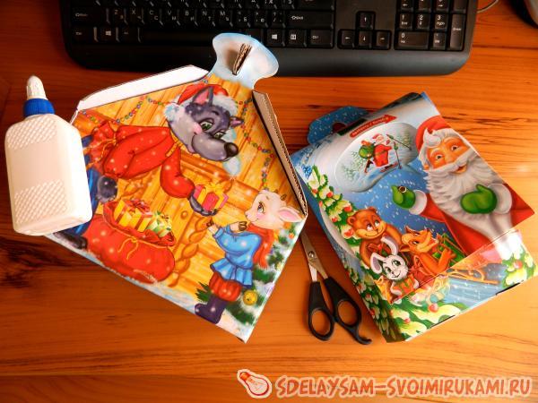 Коробка из сладостей своими руками