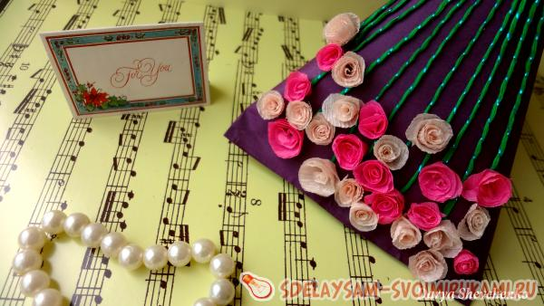 Упаковка подарка «Миллион алых роз»
