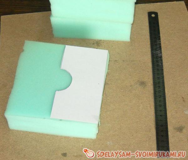 картонный шаблон