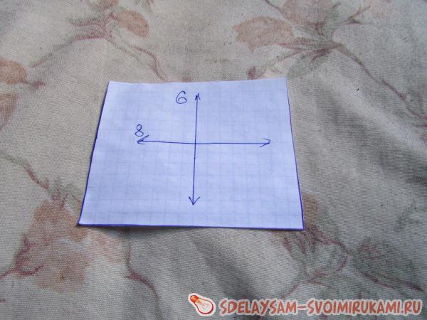отмечаем на ней квадрат