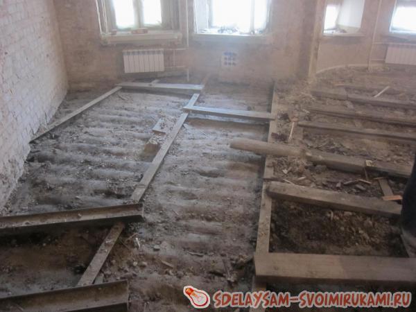 Основание под деревянный пол: возможные варианты и этапы
