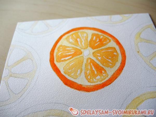 рисуем апельсин