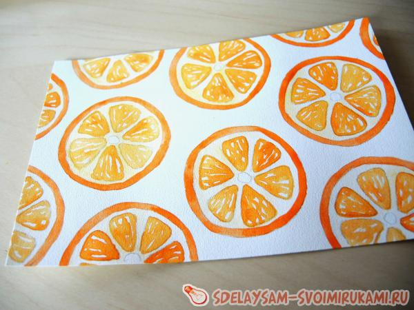 draw an orange