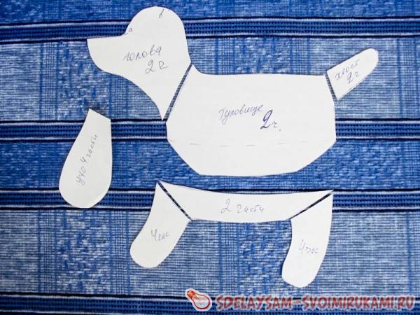 Cut the doggie pattern
