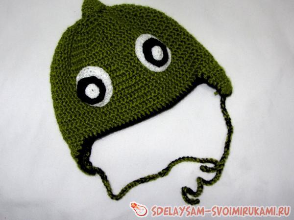 Вяжем шапку «Динозавр»