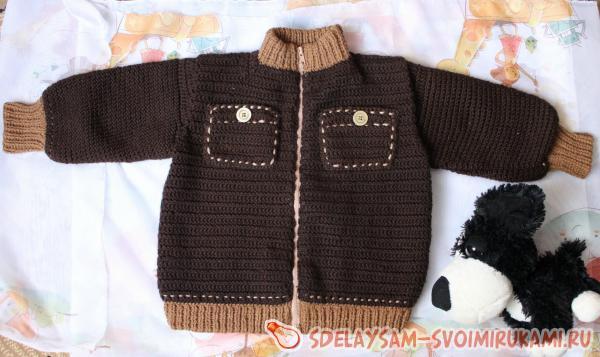 Осенняя курточка для малыша 3 лет крючком