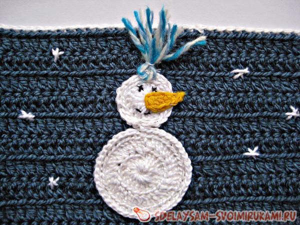 Грелка на кружку Снеговик
