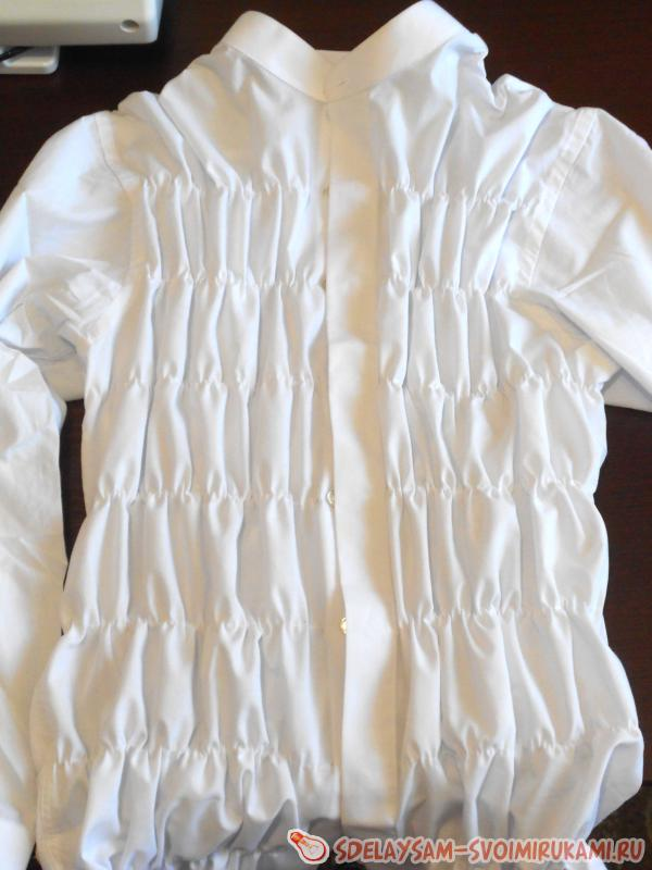 blouse from a men's shirt