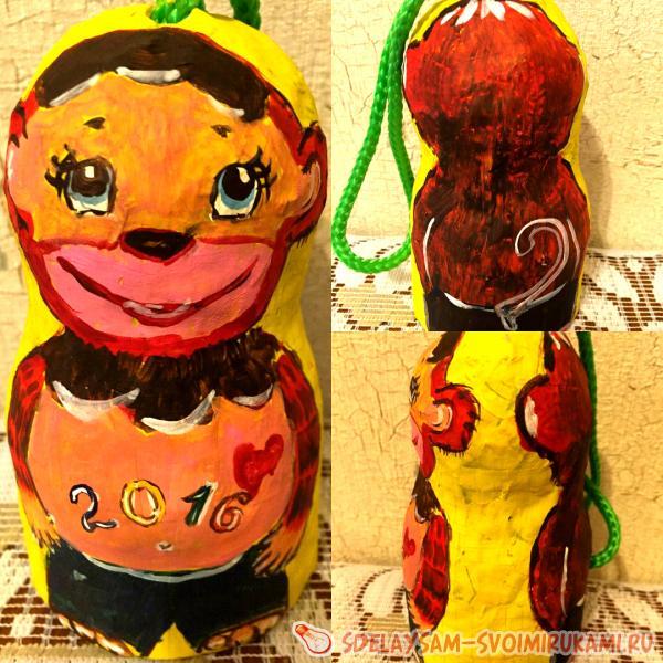 Новогодние игрушки из папьемаше