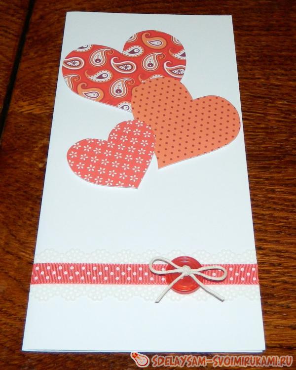 Как сделать открытку с сердечками внутри своими руками, плейкасты