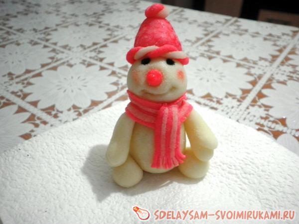 Новогодние фигурки из сахарной мастики