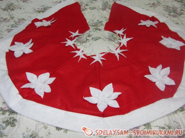 Юбка для новогодней елки