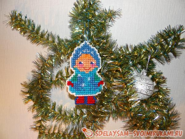 Two-sided Snow Maiden Christmas tree toy