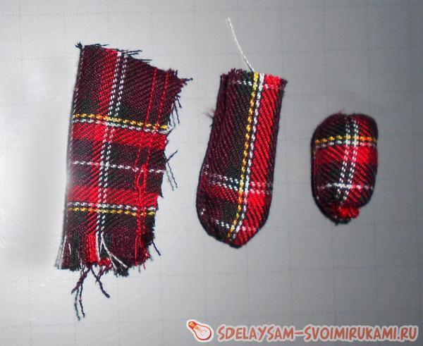 Бусы из ткани