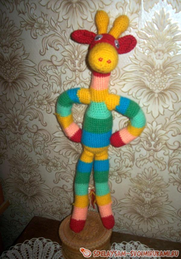 Как сделать очаровательного радужного жирафа для ребенка?