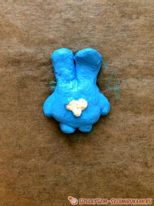 Магнит из соленого теста смешарик Крош