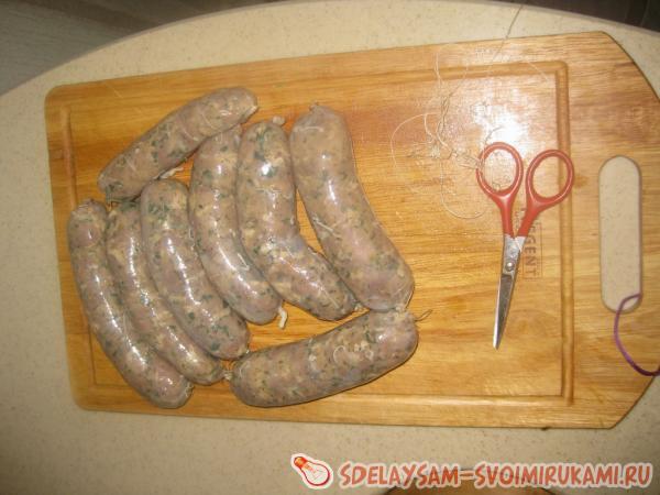 Handmade pork sausages