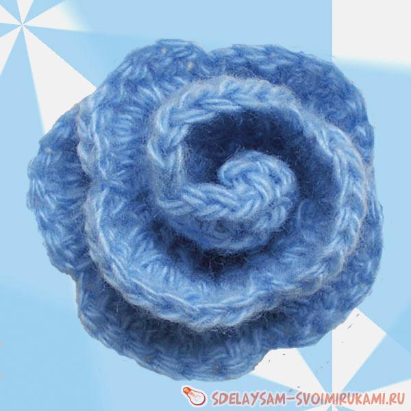 Схемы вязания розы крючком - бесплатные схемы : Kruchcom.ru