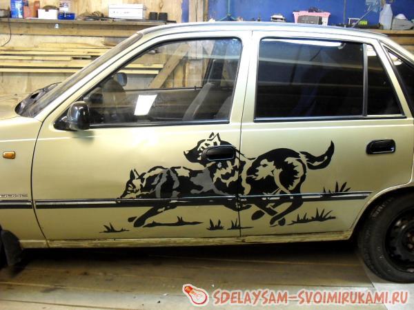 Превращение старого автомобиля в стильны