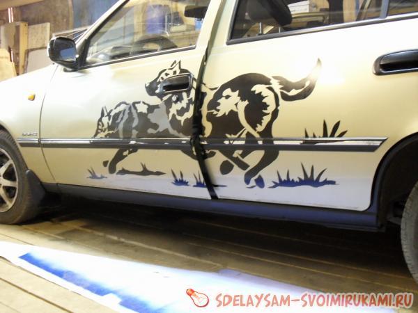 Превращение старого автомобиля в стильный