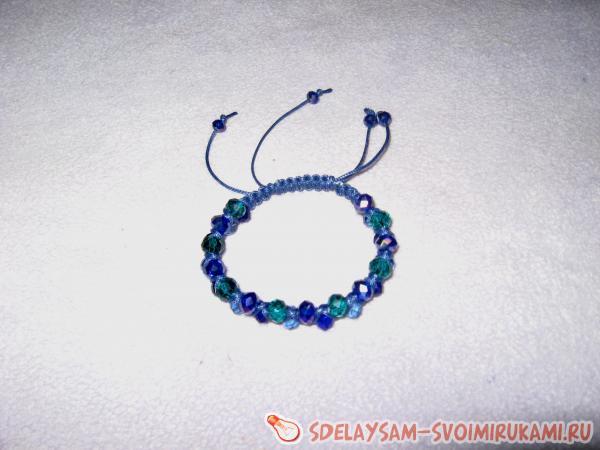 Плетеный браслет «Двойная шамбала»