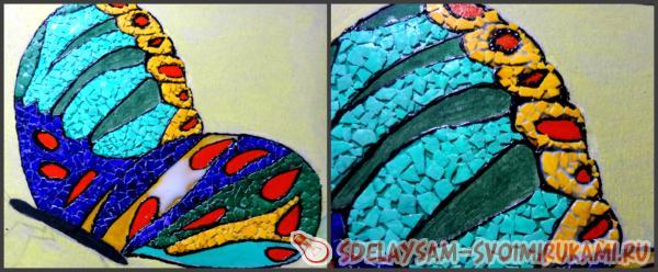 картина мозаика из яичной скорлупы