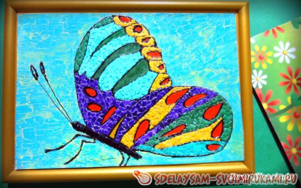 Мастер-класс по мозаике из яичной скорлупы «Бабочка»