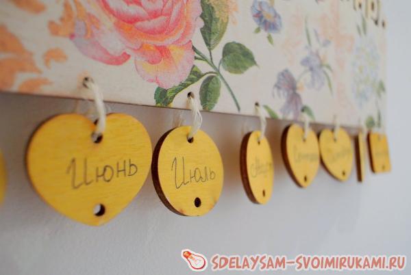 декорирование семейного календаря