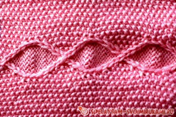 Master class on knitting a children's plaid