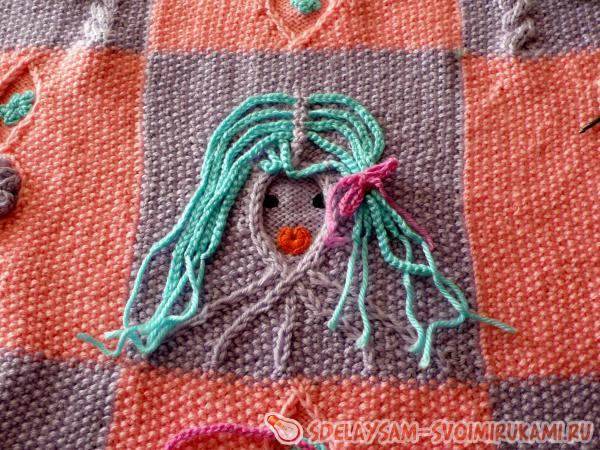 Master class on knitting of a children's blanket