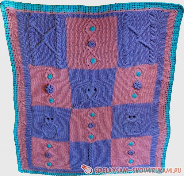 Master class on knitting baby blanket