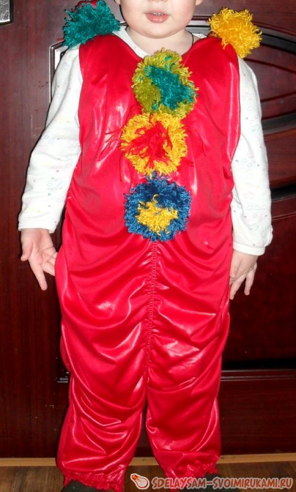 Новогодний костюм клоун за час