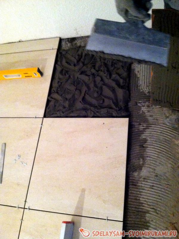 укладка плитки на инфракрасные полы