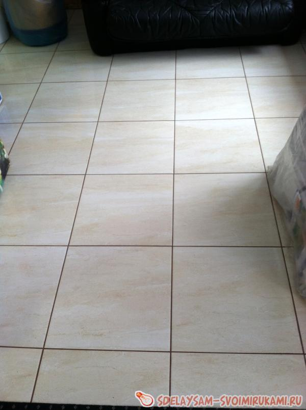 laying tiles on infrared floors