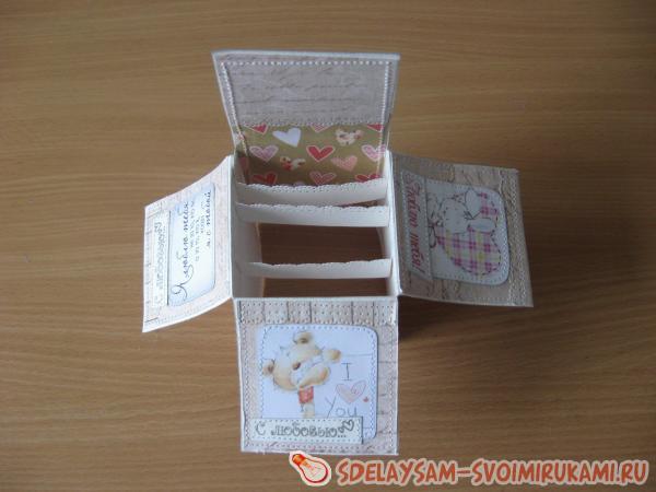 объемная открытка коробка