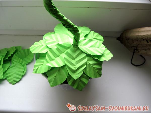 paper topiary using quilling technique
