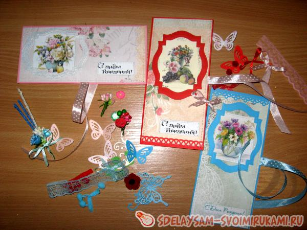 Birthday greeting envelopes