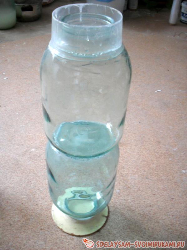 Как сделать из 3 литровой банки вазу своими руками 55