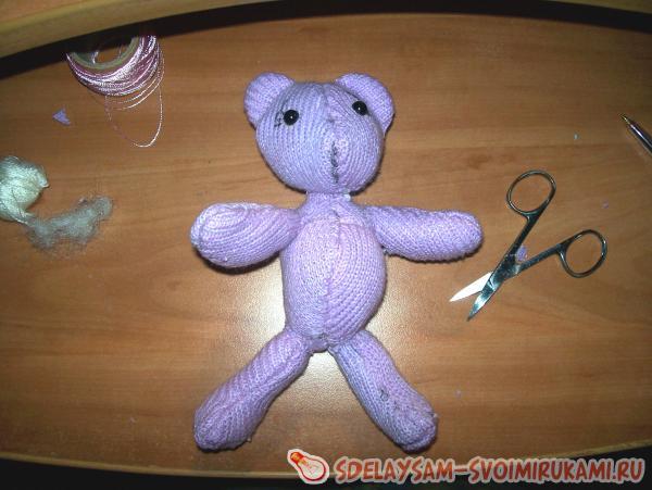 фиолетовый медвежонок