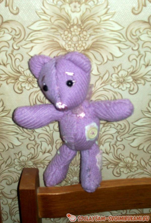 Как сделать фиолетового медвежонка