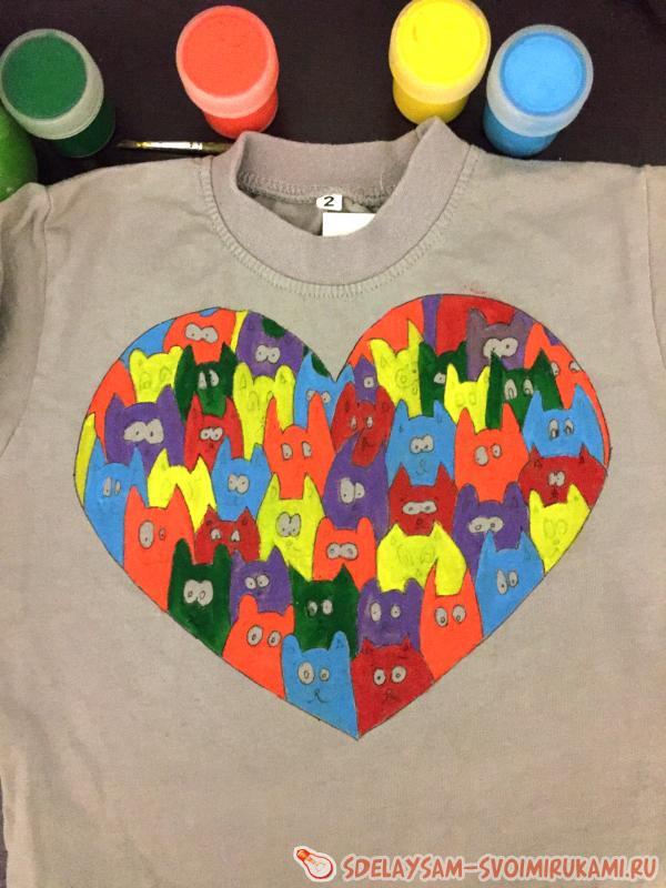 Painting children's t-shirt