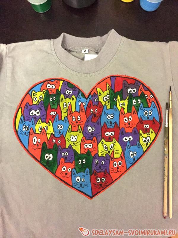 Роспись детской футболки