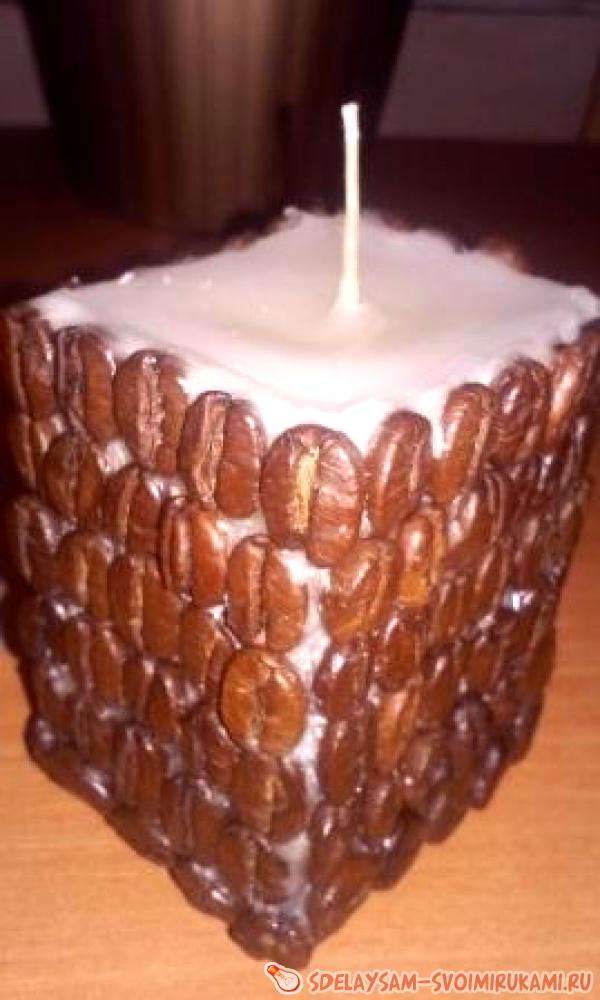 coffee candle with your own hands