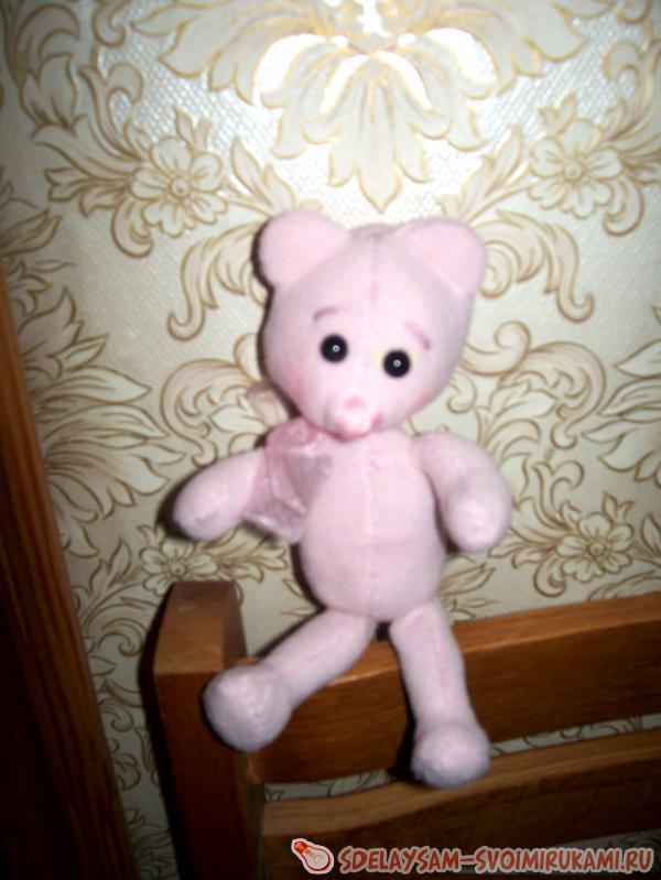 Как сделать розового медвежонка