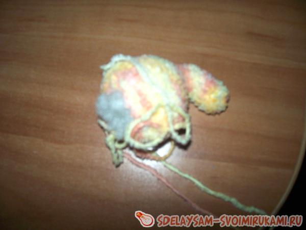 baby elephant from multicolored threads