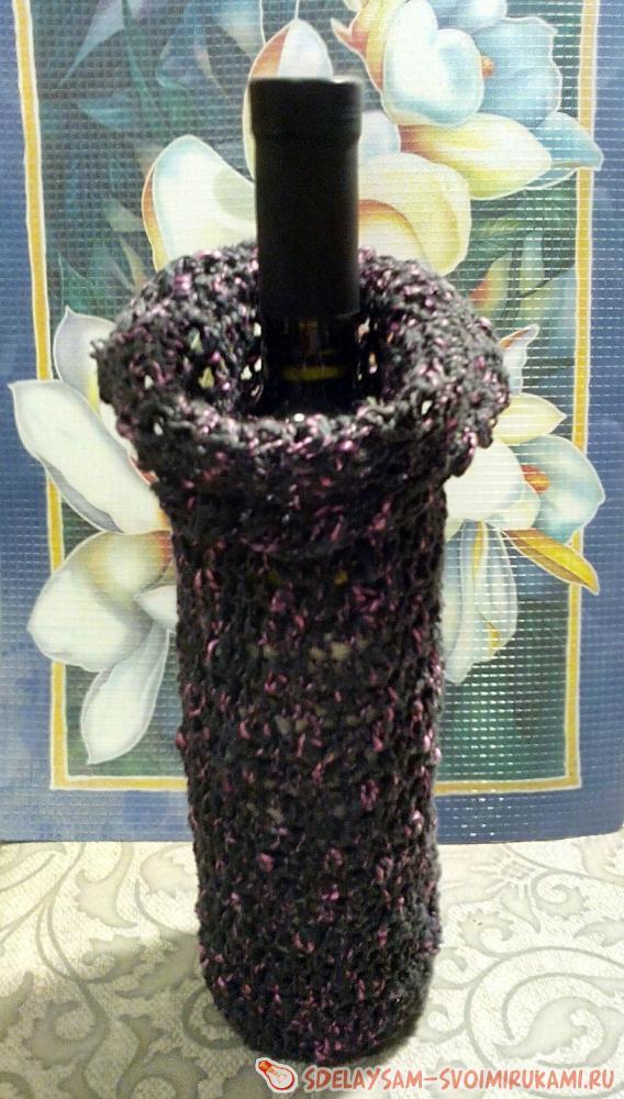 Упаковка с розочкой для бутылки вина