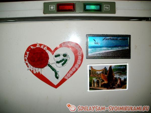 Валентинка – магнит