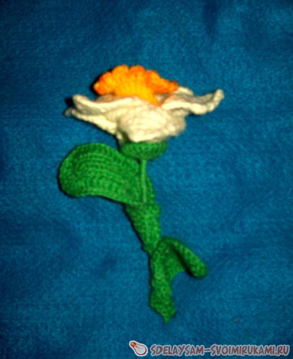 Цветок ирис из ниток