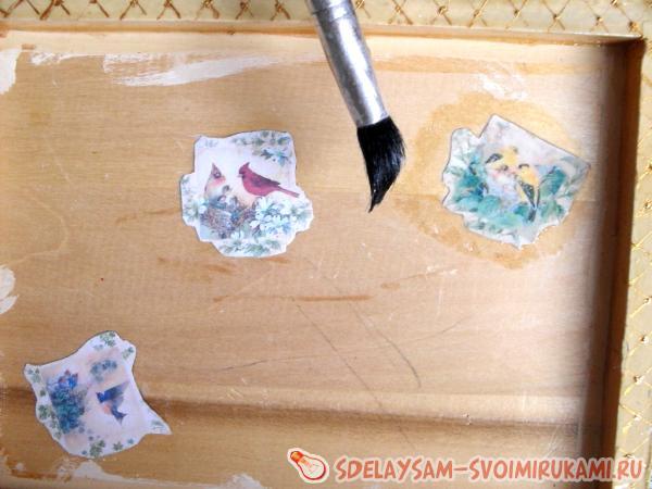 шкатулка разных техник декора
